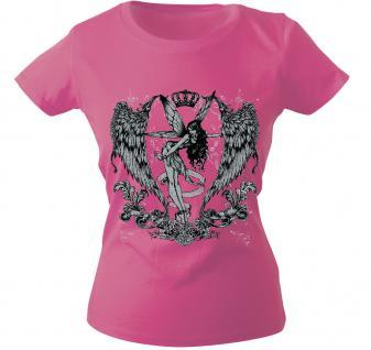 Girly-Shirt mit Print - Fee - 10898 - versch. farben zur Wahl - Gr. XS-XXL