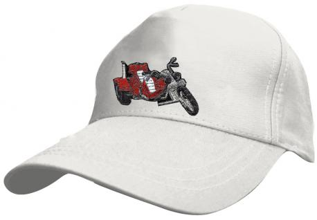 Kinder BaseCappy mit Trike-Bestickung - Trike - 69128-2 weiss - Baumwollcap Baseballcap Hut Cap Schirmmütze