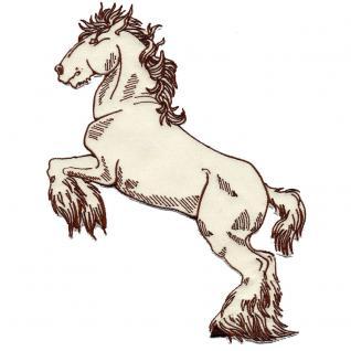 Aufnäher - Steigendes Pferd - 07382 - Gr. ca. 26 x 14 cm - Patches Stick Applikation