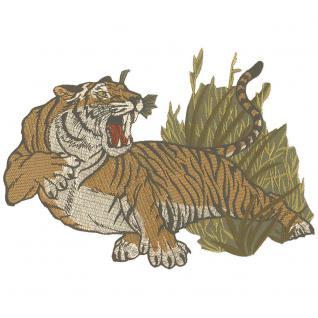 Aufnäher - Tiger - 08032 - Gr. ca. 34 x 18 cm - Patches Stick Applikation