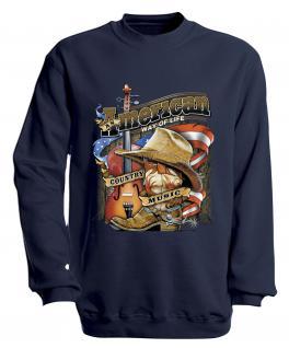 S-Shirt mit Print - American Way... - S10249 - versch. farben zur Wahl - Gr. Navy / XXL