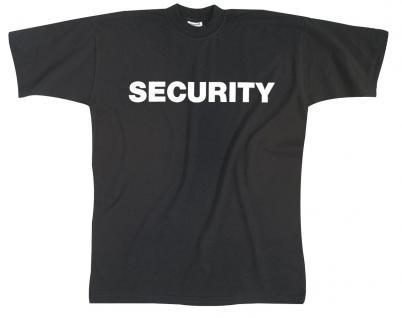 T-Shirt unisex mit Aufdruck - SECURITY - 09434 - Gr. M