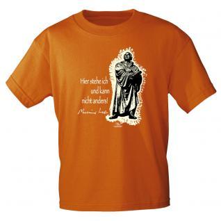 T-Shirt unisex mit Aufdruck in 6 Farben Luther Gr. S ?XXL 09705 S / Orange