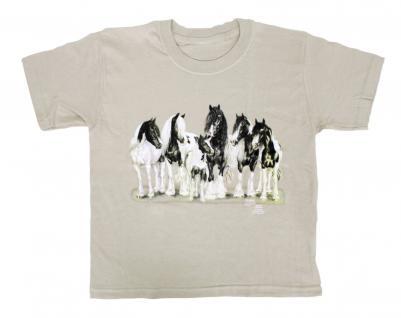 T-Shirt mit Print - Kaltblut - aus der ©Kollektion Bötzel - 09755 cremefarben - Gr. M