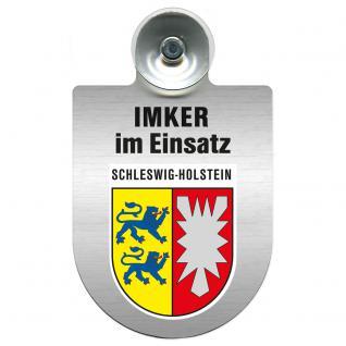 Einsatzschild Windschutzscheibe incl. Saugnapf - Imker im Einsatz - 309382-0-12 - Region Schleswig-Holstein
