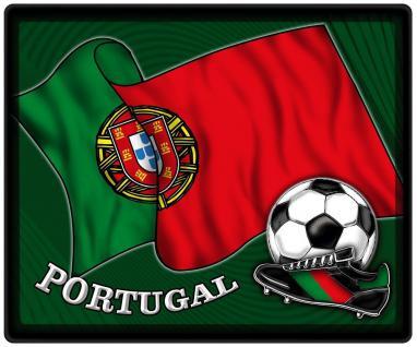 Mousepad Mauspad mit Motiv - Fussball Portugal Fahne Fussballschuhe - 83133 - Gr. ca. 24 x 20 cm