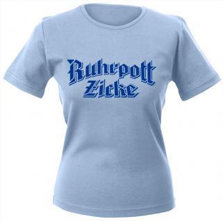 Girly-Shirt mit Print - Ruhrpottzicke - 12323 - hellblau - M