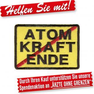 Aufnäher Applikation Stick-Emblem - 01787 - Gr. ca. 8 cm - Atomkraft Ende