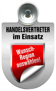 (309367) Einsatzschild Windschutzscheibe -Handelsvertreter -incl. Regionen nach Wahl