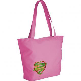 Modische Lifestyle- Tasche mit Motiv- Stickerei - Herz - 08964 - Shopper Ticiana Montabri
