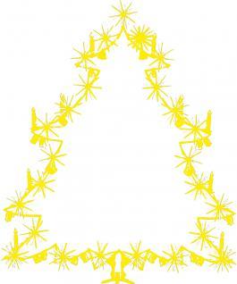 """Wandtattoo/ Dekorfolie mit Motiv """" Christbaum"""" Ø 90cm Länge max.100 cm, in 11 Farben WD0810 gelb"""