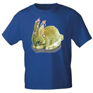 Kinder Marken-T-Shirt mit Motivdruck in 12 Farben Hase K12778 152/164 / Royal