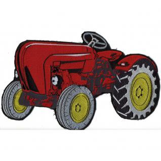 Rückenaufnäher - Traktor - 07452 - Gr. ca. 27, 5 x 17, 5 cm - Patches Stick Applikation