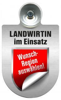 Einsatzschild Windschutzscheibe incl. Saugnapf - Landwirtin im Einsatz - 309738- Regionen nach Wahl