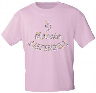 Kinder T-Shirt mit Aufdruck - 9 Monate Lieferzeit - 08259 - rosa - Gr. 122/128