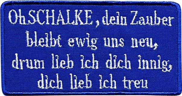 AUFNÄHER - NEU - 00755 - Gr. ca. 10 cm x 5 cm - Patches Stick Applikation Bügel-Emblem