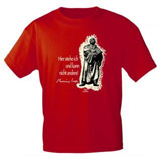 T-Shirt unisex mit Aufdruck in 6 Farben Luther Gr. S ?XXL 09705 rot / XXL