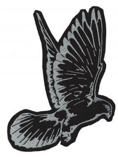AUFNÄHER - Taube - 07992 - NEU Gr. ca. 16cm x 21cm - Patches Stick Applikation Bügel-Emblem