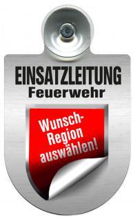 (309476) Einsatzschild Windschutzscheibe -Einsatzleitung Feuerwehr - incl. Regionen nach Wahl