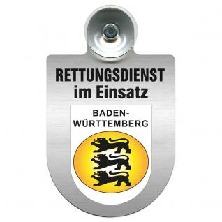 Einsatzschild Windschutzscheibe incl. Saugnapf - Rettungsdienst im Einsatz - 309354-1 - Region Baden-Württemberg