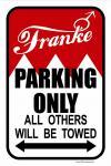 Hinweisschild - Parkschild - Franke... - 303095-1 -