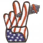 Aufnäher - USA Peace - 03164 - Gr. ca. 6 x 6, 5 cm - Patches Stick Applikation