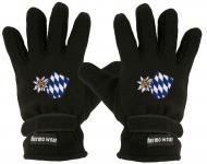 Handschuhe - Fleece - Edelweiss und Bayernraute - 31507