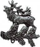 Anstecknadel - Metall - Pin - Hirsch - 02674 - Gr. ca. 2, 8 x 3, 0 cm