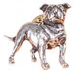 Anstecknadel - Metall - Pin - Stafford Hund - Größe ca. 4 x 3 cm - 02627
