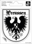 Alu Qualitäts - Wappenaufkleber Preussen - 301645 - Gr. ca. 8, 0 x 6, 5 cm
