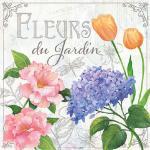 Servietten 20er Set - TISSUE mit Motiv -Fleurs du Jardin- 33733 Gr. ca. 33x33cm
