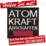 Aufnäher Applikation Stick-Emblem - 00021 - Gr. ca. 8 cm - Atomkraft....