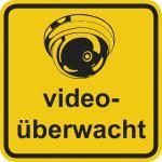 Hinweisschild - videoüberwacht - Gr. ca. 20 x 20 cm - 308810/1