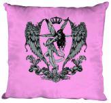 """(K10898-1) Deko- Kissen mit hochwertigem Motiv """" Fee Flügel"""", Größe ca. 40 x 40 cm, in 12 Fasrben erhältlich rosa"""