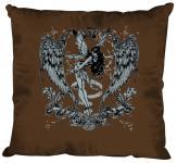 """(K10898-1) Deko- Kissen mit hochwertigem Motiv """" Fee Flügel"""", Größe ca. 40 x 40 cm, in 12 Fasrben erhältlich braun"""