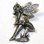 Anstecknadel - Metall - Pin - Fee - Elfe - Größe ca 2 x 3 cm - 02678-2