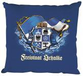 Zierkissen Dekokissen mit Aufdruck - FREISTAAT SCHALKE - Gr. ca. 40cm x 40cm (09157 royalblau) Kopfkissen Kissen Gelsenkirchen Ruhrpott Ruhrgebiet