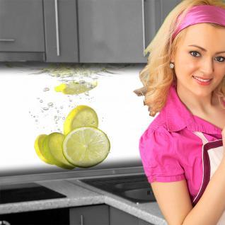Küchenrückwand < Zitronen Wasser > Premium Hart-PVC 0, 4 mm selbstklebend - Direkt auf die Fliesen