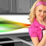 Küchenrückwand < Abstrakt Regenbogen > Premium Hart-PVC 0, 4 mm selbstklebend - Direkt auf die Fliesen