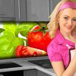 Küchenrückwand < Fresh Tomatoe > Premium Hart-PVC 0, 4 mm selbstklebend - Direkt auf die Fliesen