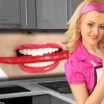 Küchenrückwand < Chilli Mund > Premium Hart-PVC 0, 4 mm selbstklebend - Direkt auf die Fliesen