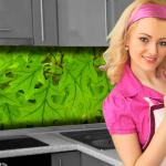 Küchenrückwand < Blätter > Premium Hart-PVC 0, 4 mm selbstklebend - Direkt auf die Fliesen