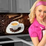 Küchenrückwand < Kaffee Mix > Premium Hart-PVC 0, 4 mm selbstklebend - Direkt auf die Fliesen