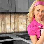 Küchenrückwand < Bretterwand Hütte > Premium Hart-PVC 0, 4 mm selbstklebend - Direkt auf die Fliesen