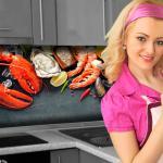 Küchenrückwand < Seafood > Premium Hart-PVC 0, 4 mm selbstklebend - Direkt auf die Fliesen