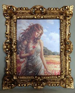 Gemälde Akt Erotik Damen Bild Frauen am Strand Damen 45x38 Deko Bild mit Rahmen