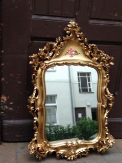 Wandspiegel Barock Antik Mode Dep Spiegel Antik Gold 95x60cm made in Itay