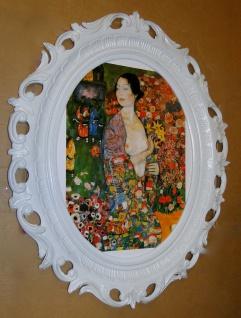 Frau Tänzerin Wandbilder Frau 68x58 Gemälde FRAU Bild Bilderrahmen Weiß y230w