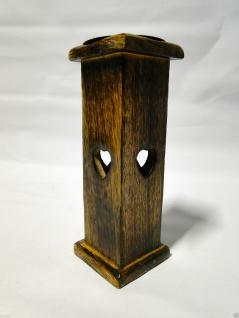 Kerzenhalter Holz Antik 19x7 Kerzenständer aus Mango Holz Kerzenhalter 20731