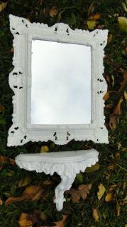 Wandspiegel mit Konsole Weiß Retro Spiegelablage 45X37 ANTIK BAROCK Vintage